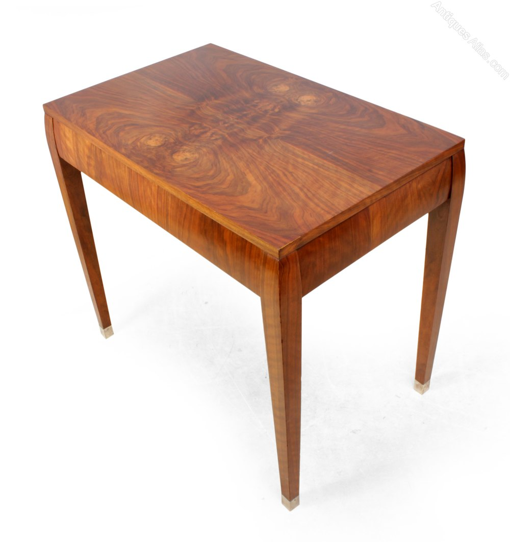 art deco walnut side table c1930 antiques atlas. Black Bedroom Furniture Sets. Home Design Ideas