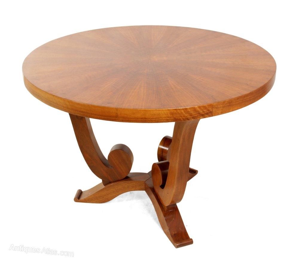 Art Deco Walnut Coffee Table Antiques Atlas
