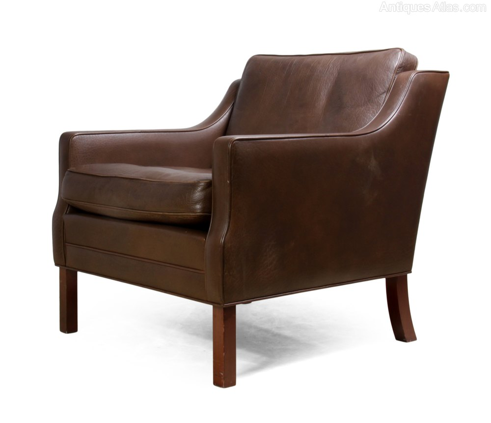 Antiques Atlas - Danish Leather Armchair C 1960