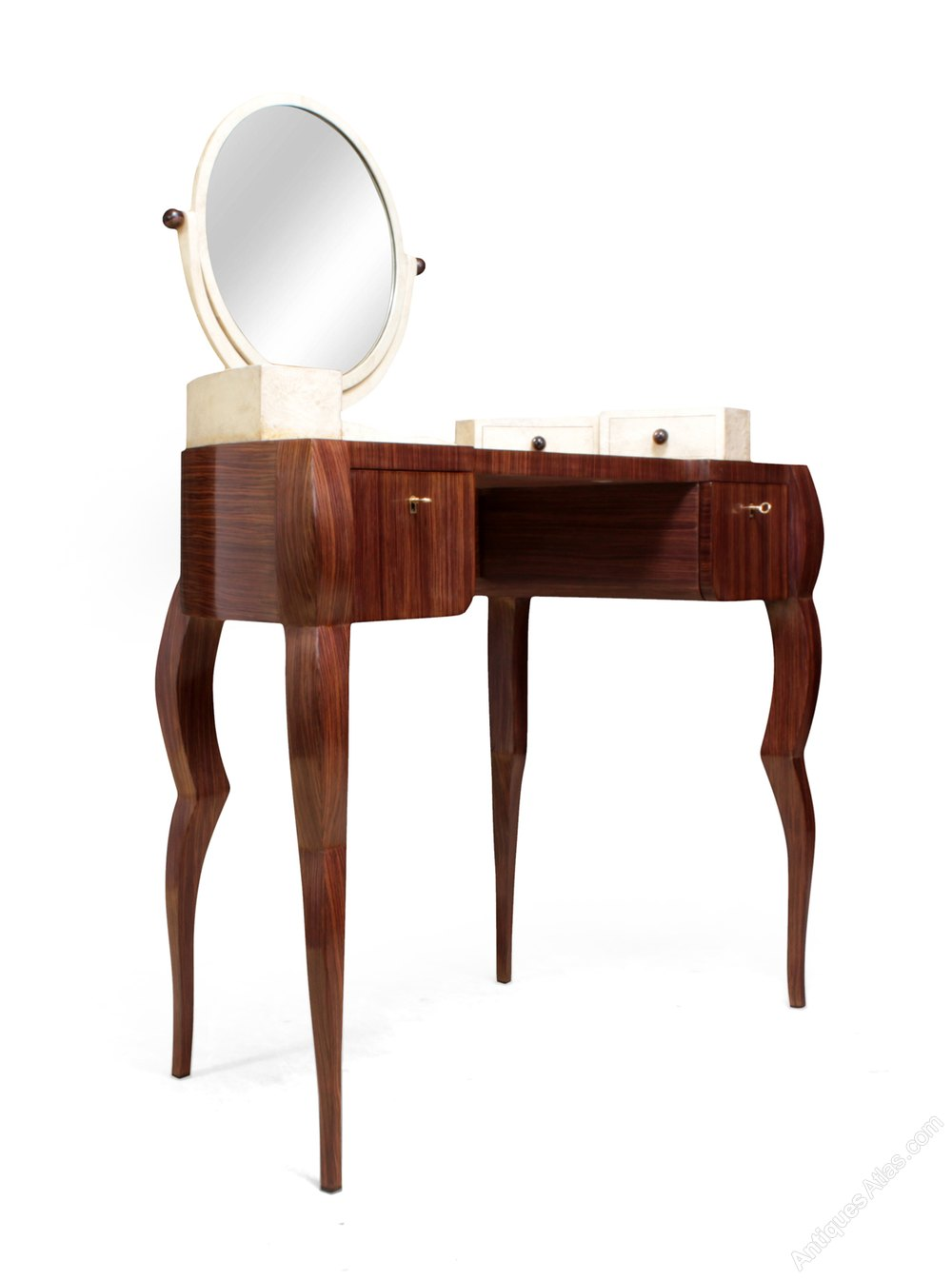 Dressing Table In Macassar Ebony And Reen
