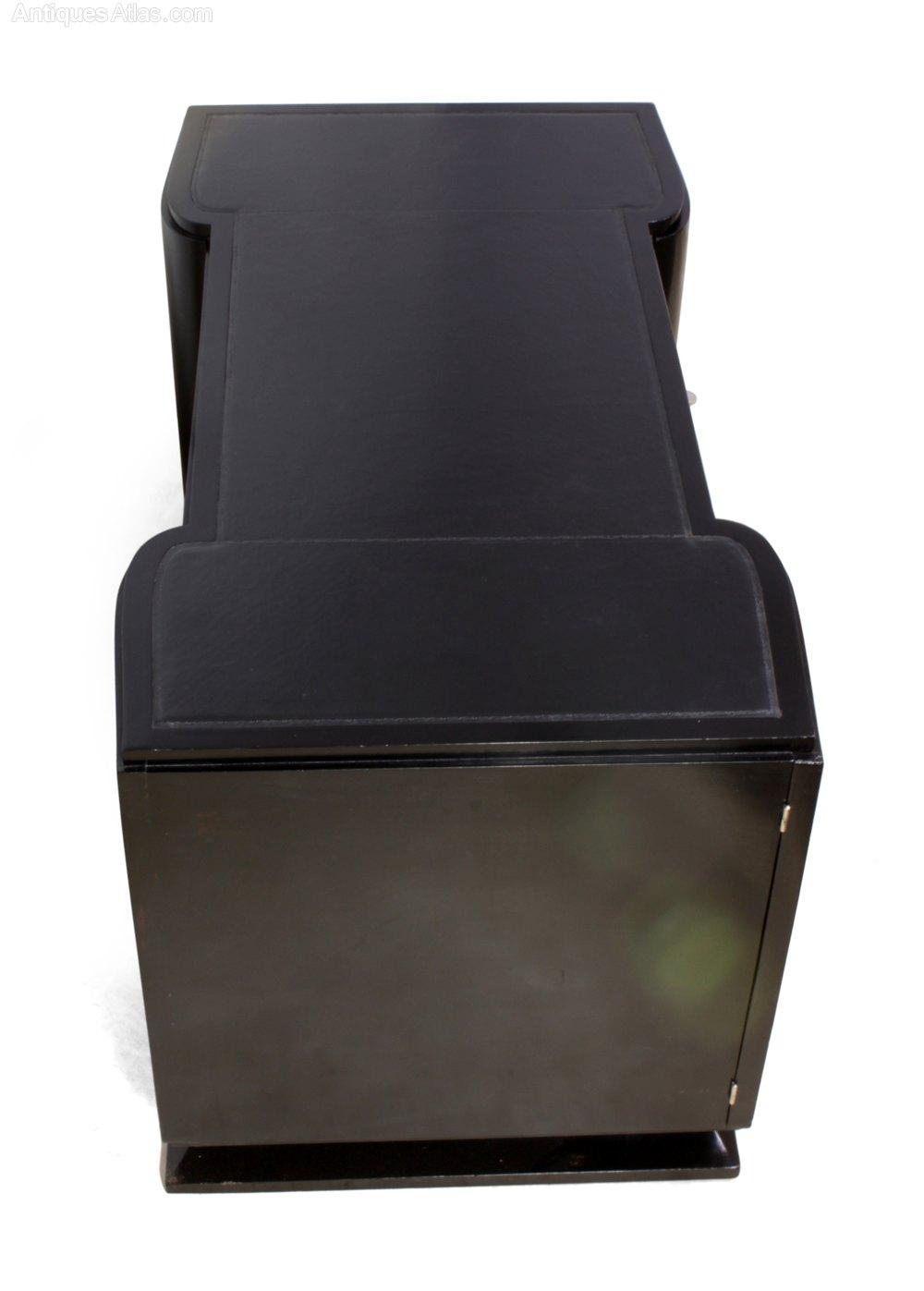 French Art Deco Desk Piano Black C1930 Antique Desks Alt5 Alt6
