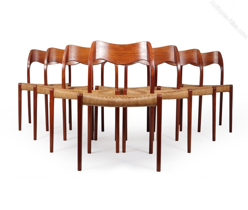 Antiques Atlas Mid Century Teak Dining Chairs Model 71 By Moller