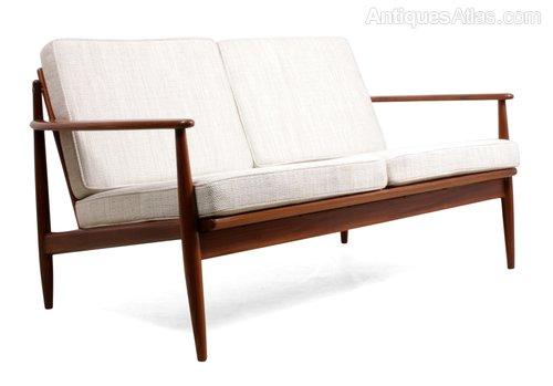 Antiques Atlas Mid Century Teak Sofa, Vintage Modern Furniture Cleveland