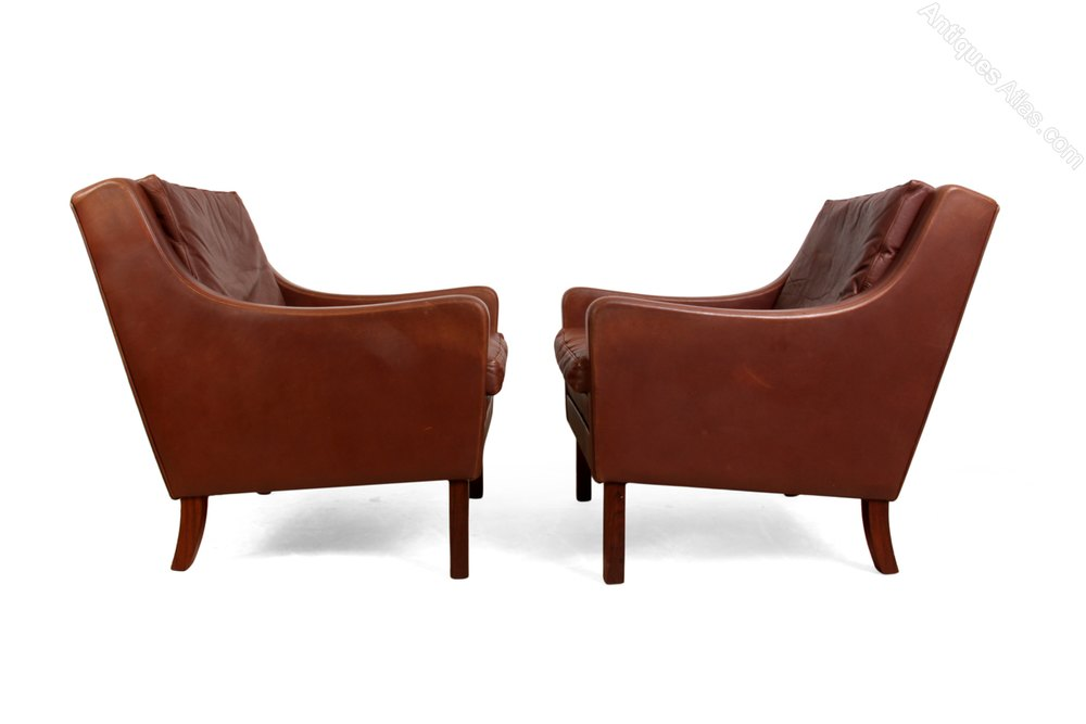 Pair of Danish Leather Chairs by Thames 1960s Armchairs Occasional Chairs %%alt5%% ...  sc 1 st  Antiques Atlas & Antiques Atlas - Pair Of Danish Leather Chairs By Thames