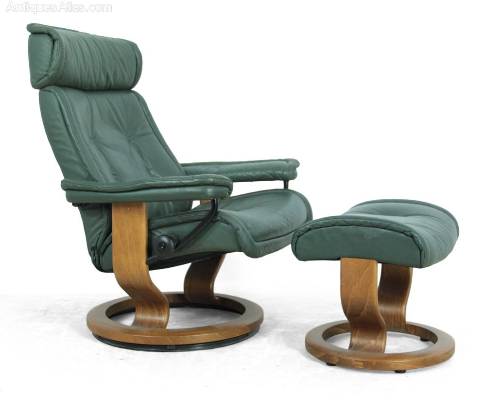 Antiques Atlas Pair Of Ekornes Stressless Chairs And Stools
