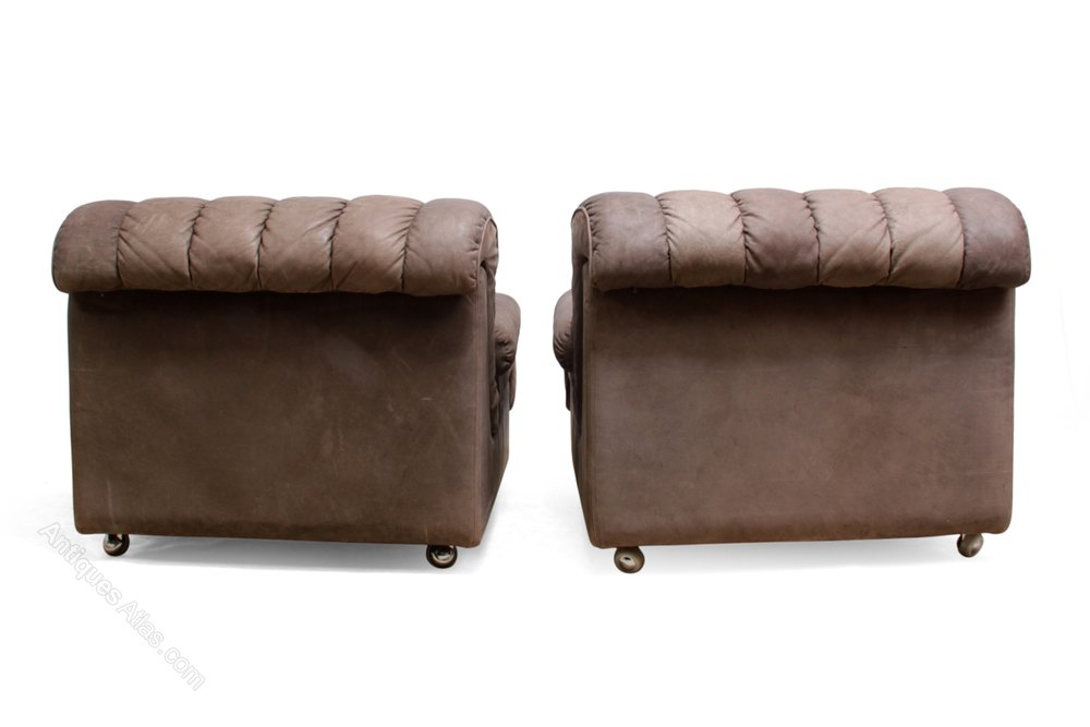Antiques Atlas Pair Of Mid Century Leather Lounge Chairs