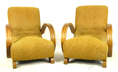 Pair Of Original 1930s Art Deco Chairs