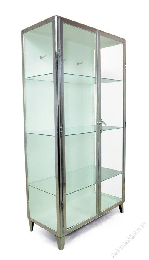 Polished Steel Medical Cabinet C1930 - Antiques Atlas