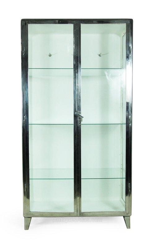 Polished Steel Medical Cabinet C1930 Antique Cabinets And Vitrines %%alt5%%  %%alt6%%