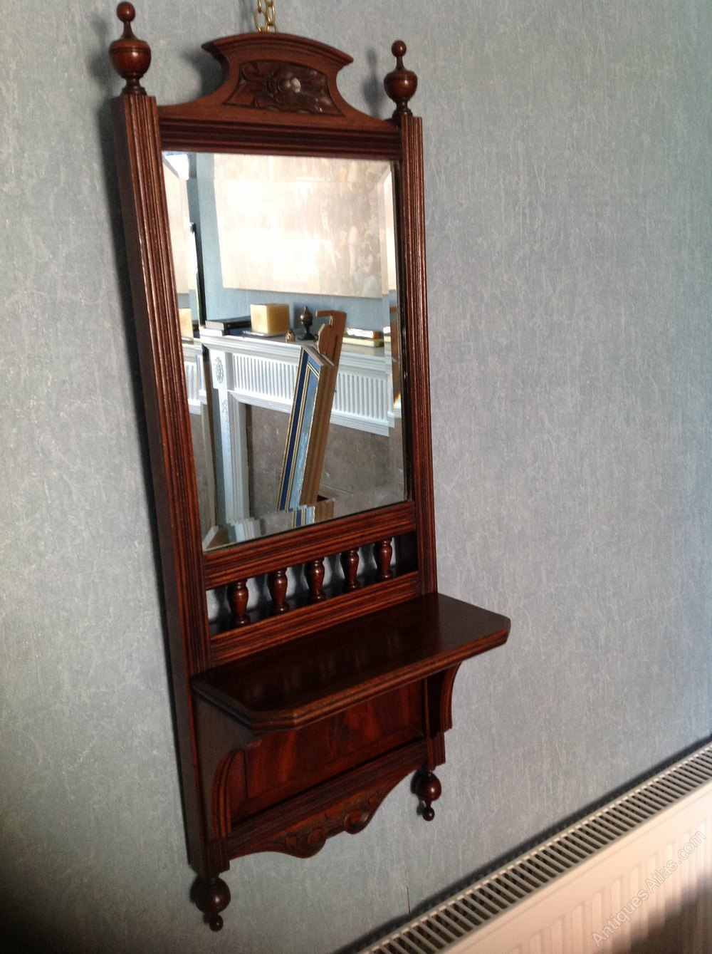 Antique Mirror With Shelf Mirror Ideas