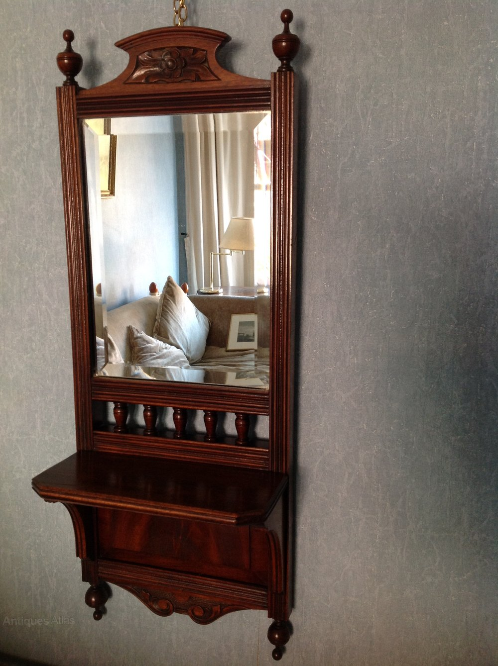 Antiques Atlas Edwardian C 1900 Carved Mahogany Wall Mirror