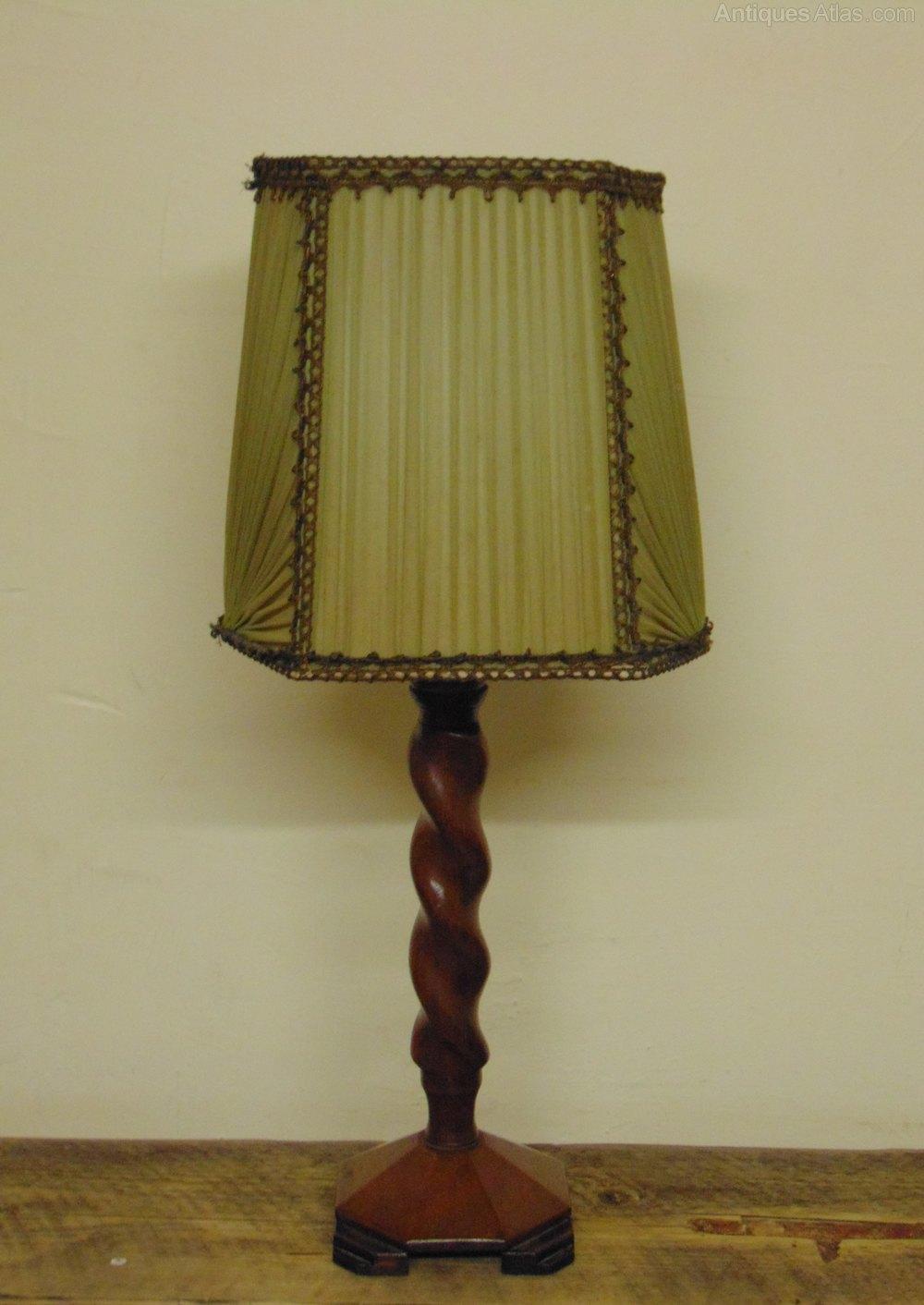 Antiques atlas art deco barley twist table lamp art deco barley twist table lamp aloadofball Images