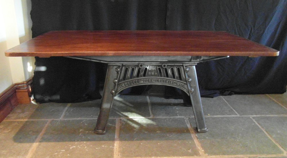 Industrial Cast Iron Base Table ...