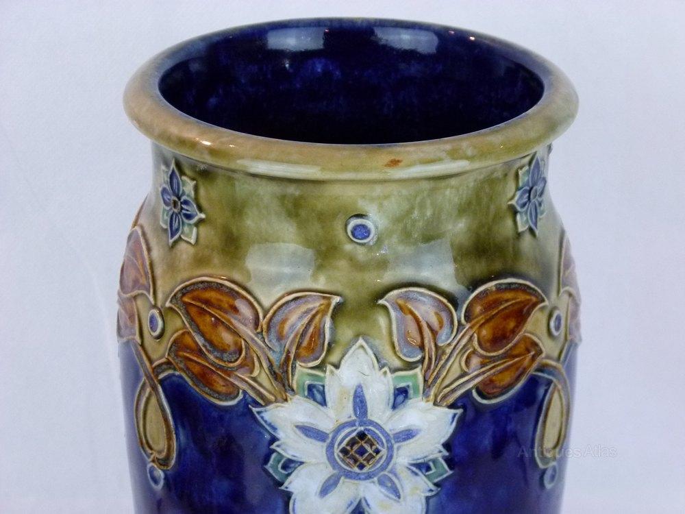 Antiques Atlas A Large Royal Doulton Lambeth Arts Amp Crafts Vase