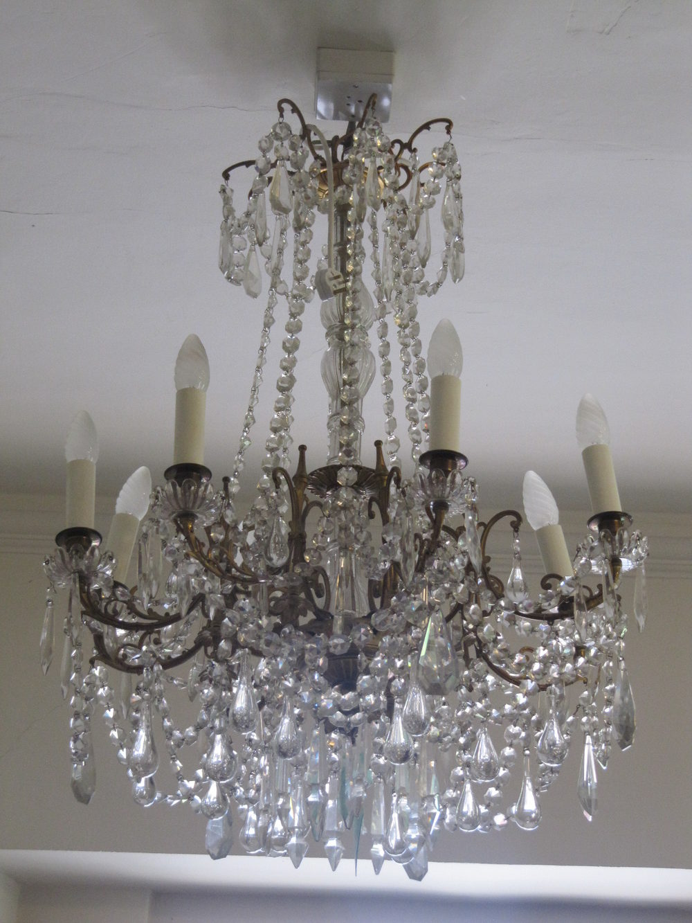 lighting antique arm recent refno acquisitions six ceiling chandelier and french chandeliers