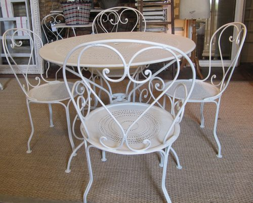 Antique Garden table and 4 Chairs - Antiques Atlas - Antique Garden Table And 4 Chairs