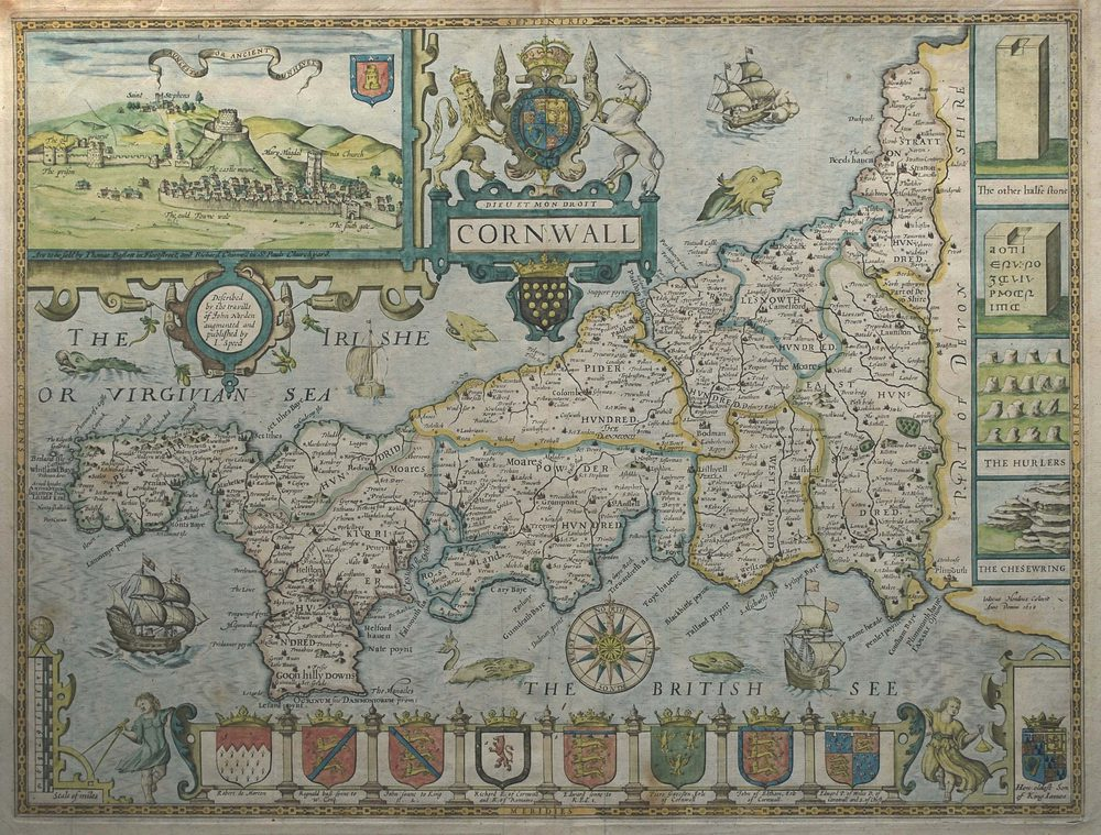 Antiques Atlas John Speed Map Of Cornwall - Antique map dealers