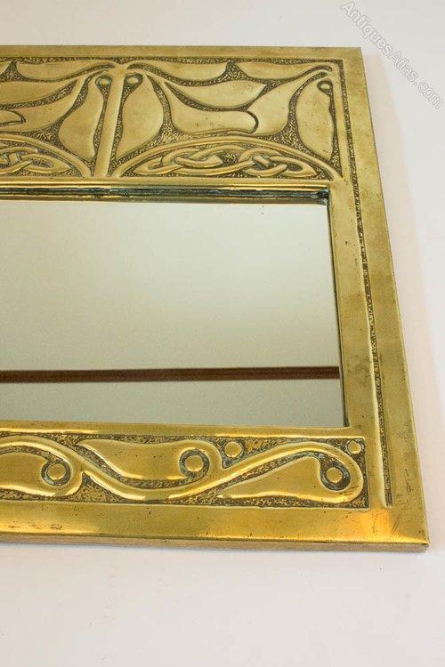 Antiques Atlas - GLASGOW STYLE Alexander Ritchie Brass Wall Mirror