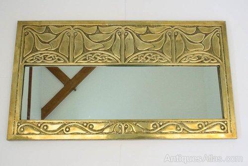 Glasgow Style Alexander Ritchie Brass, Mirror Wall Panels Glasgow