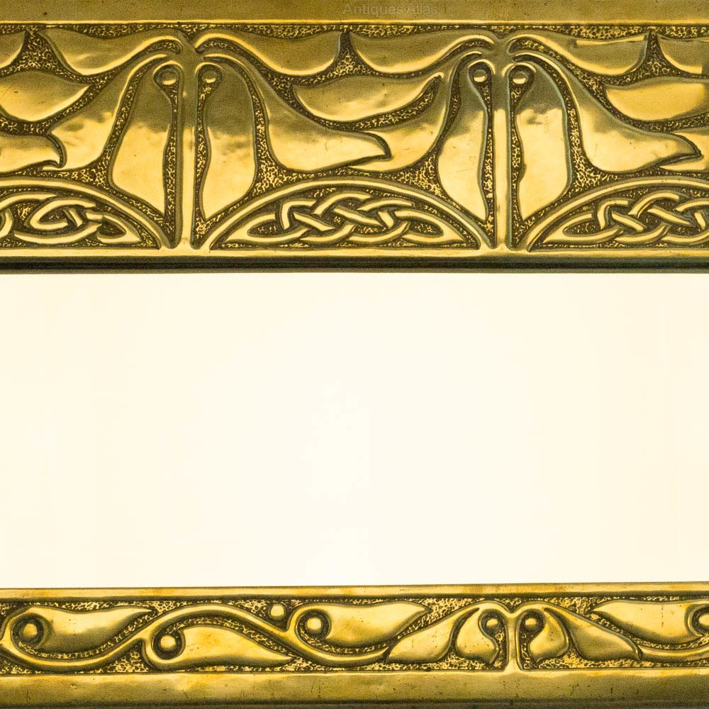 Antiques Atlas - GLASGOW STYLE Alexander Ritchie Brass Wall Mirror