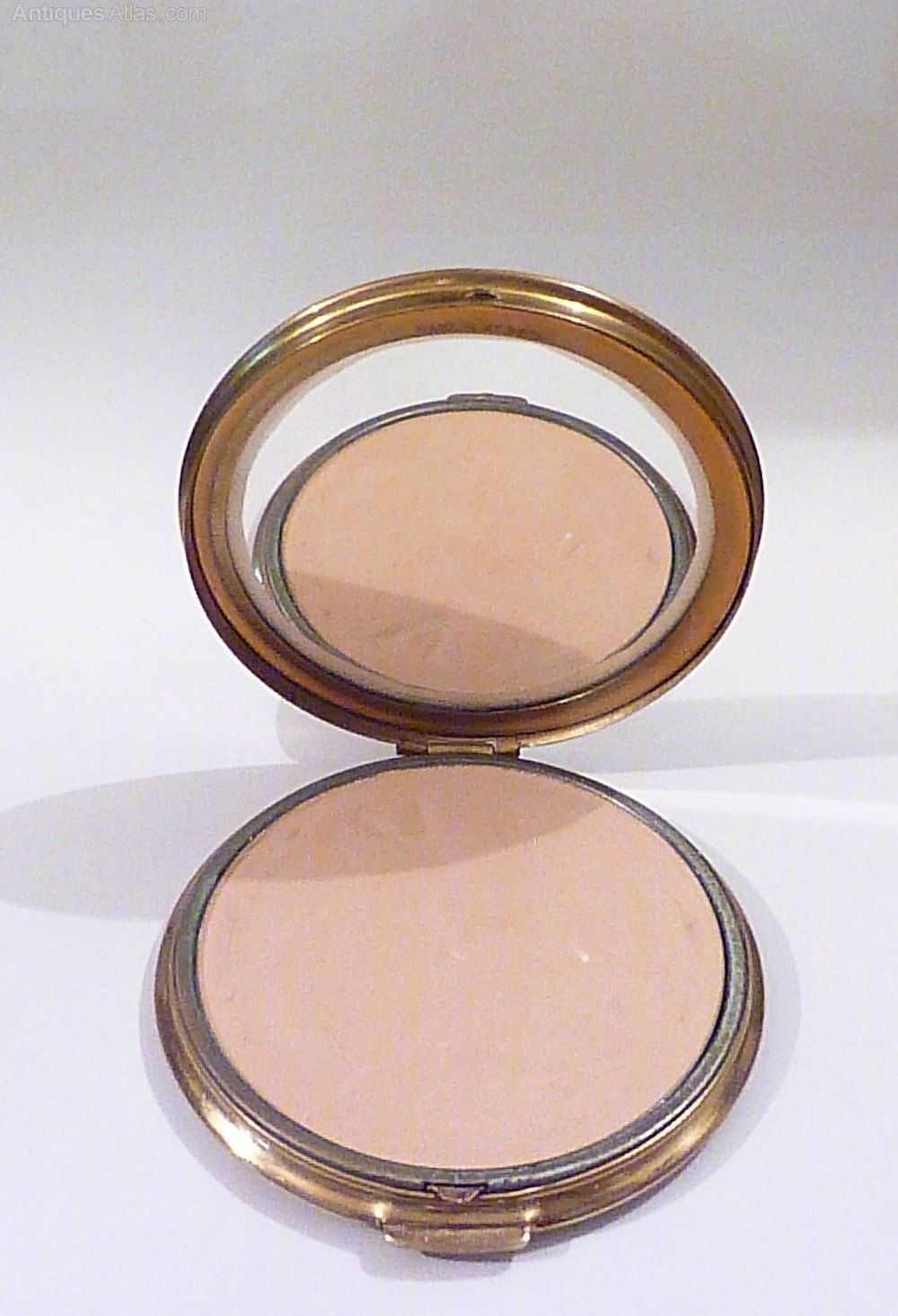 Antiques Atlas 1950s Mascot Hand Painted Powder Compact