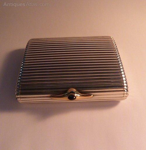 6ecc914ce105 Antiques Atlas - 950 Silver And 18 Ct Gold DUNHILL Cigarette Case