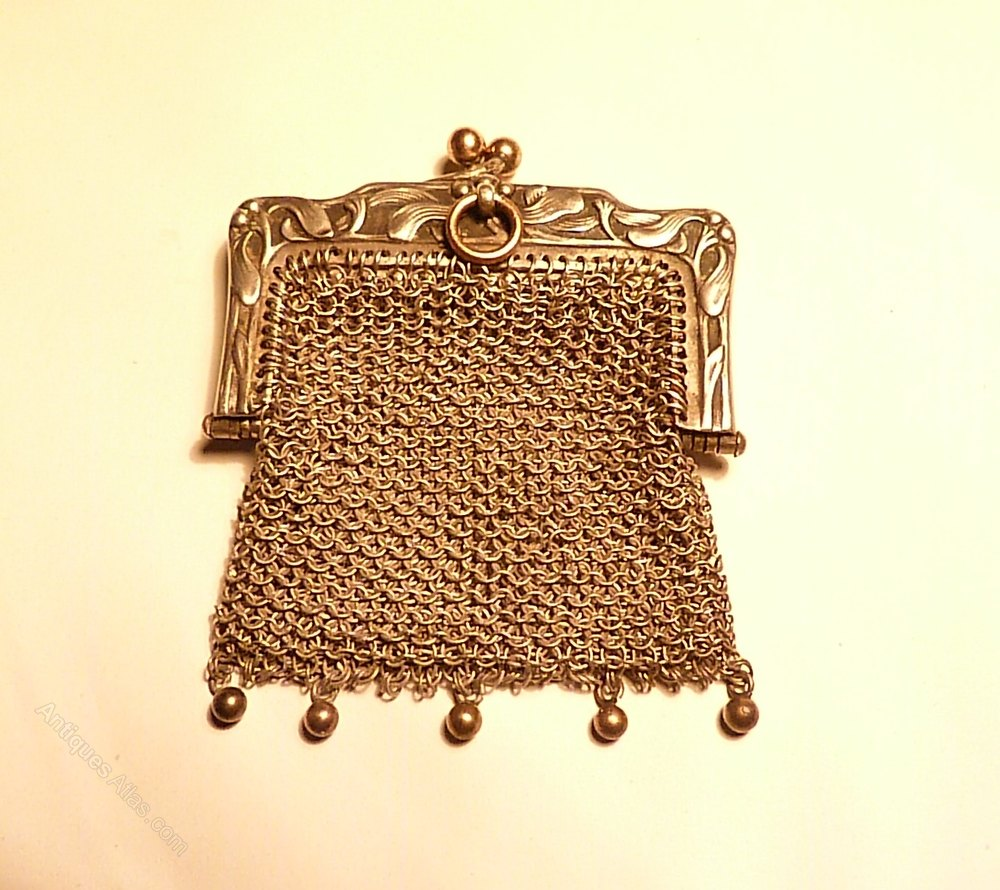 Christmas Christening.Antique Christening Christmas Gifts Silver Purse