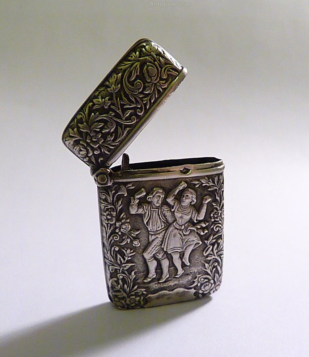 Antique Silver Wedding Gifts Vesta Case 1800s