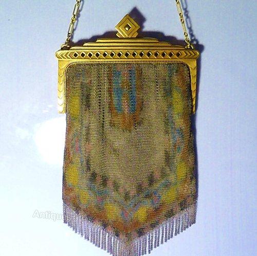 Antiques Atlas Silk Wedding 12th Anniversary Gifts Mesh Bag