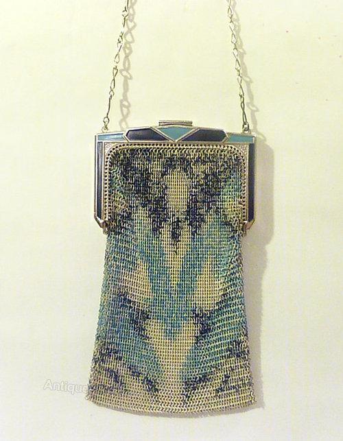 Bag whiting davis 1920 mesh 1920s Whiting