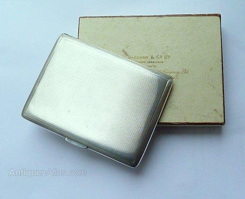 32368ffa3e25 7896616374 as395a1614 07896616374. boxed sterling silver garrard   co cigarette  case. ANTIQUES‑ATLAS