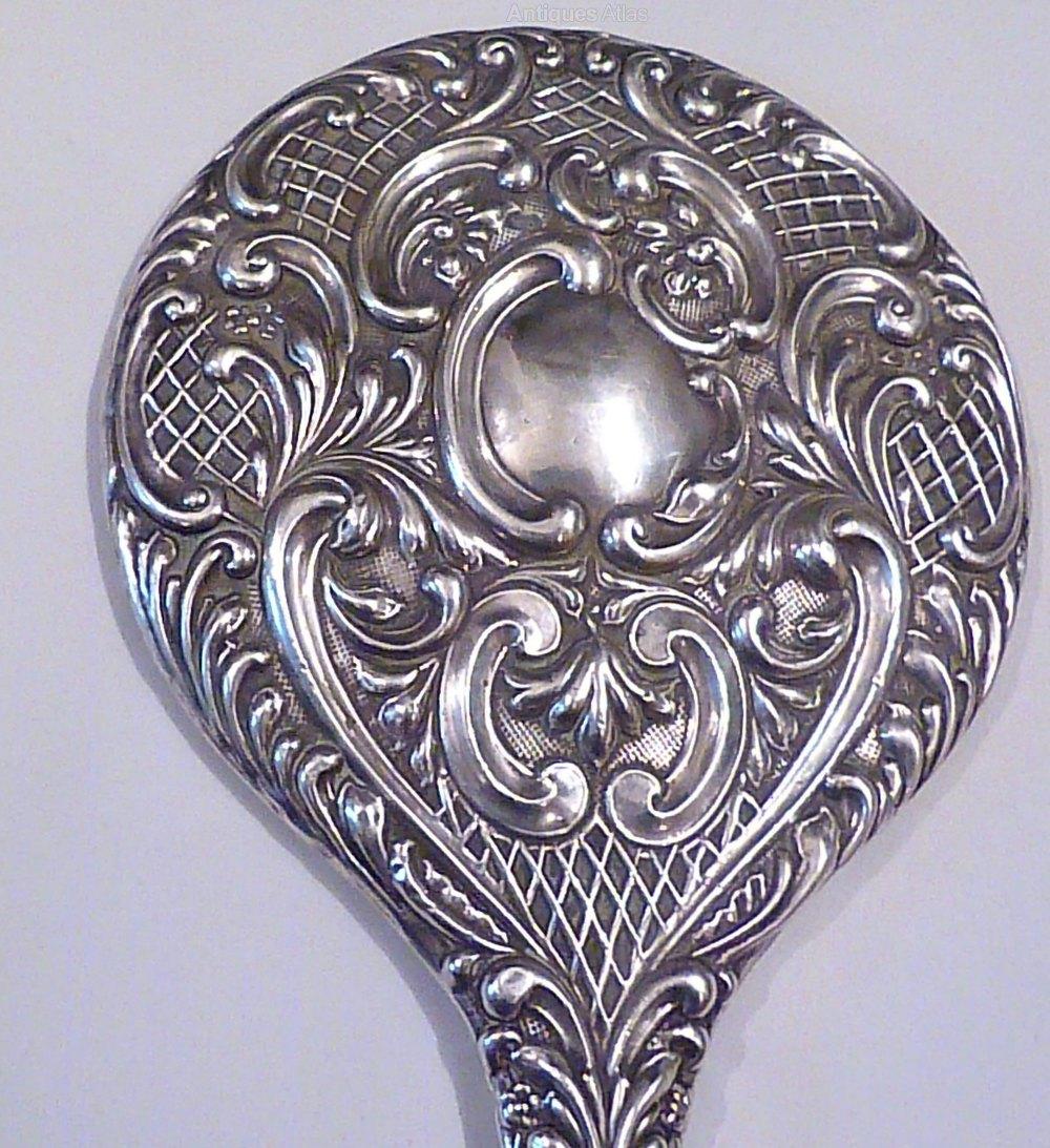 Antiques Atlas Edwardian Art Nouveau Silver Hand Mirror