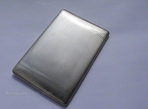 a3681d370b0e Antiques Atlas - Rare Solid Silver Alfred DUNHILL Cigarette Case