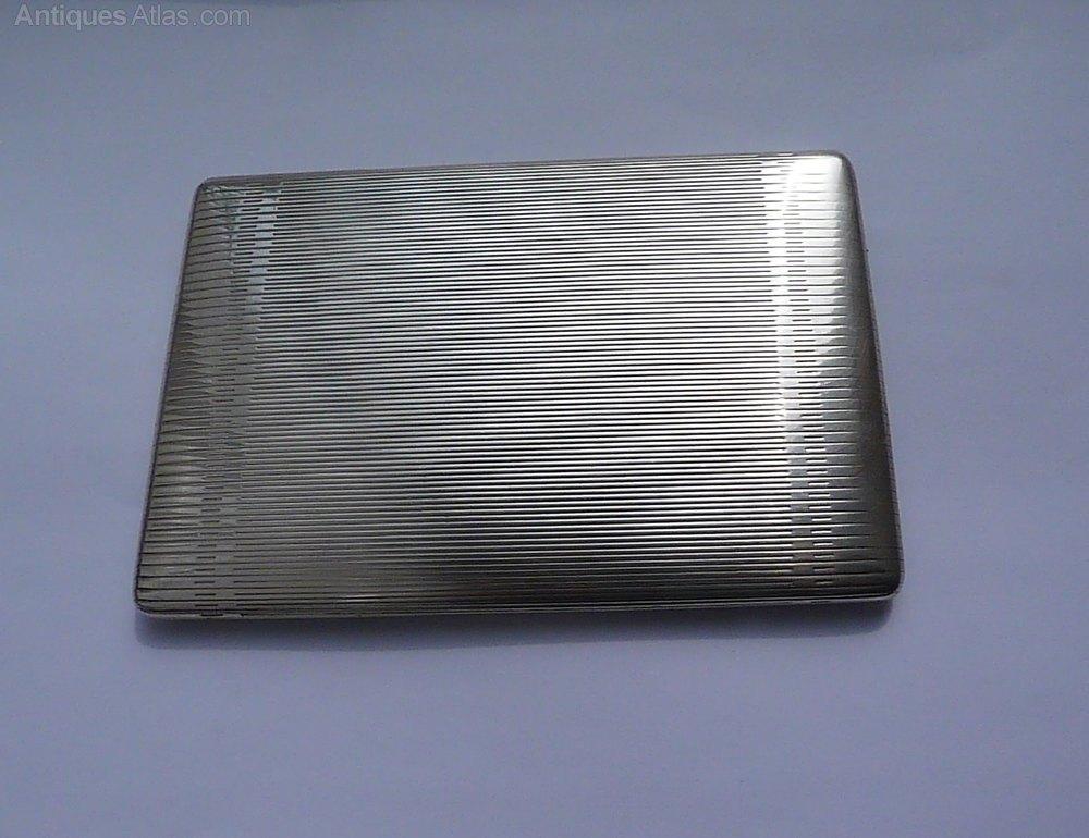 2b33e1d29d83 Rare Solid Silver Alfred DUNHILL Cigarette Case Antique Silver Cigarette  Cases ...