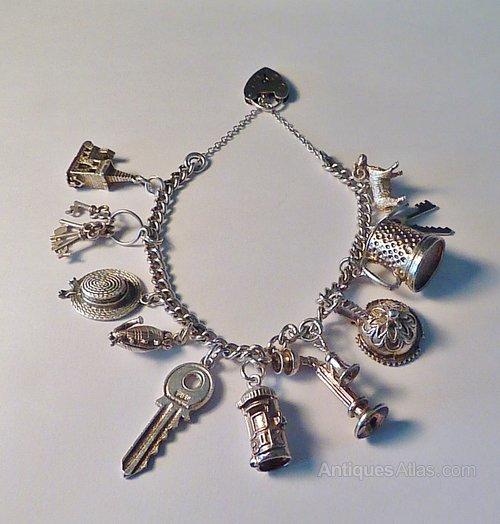 7c92fd8610f2d8 Antiques Atlas - Rare Vintage Sterling Silver Charm Bracelets