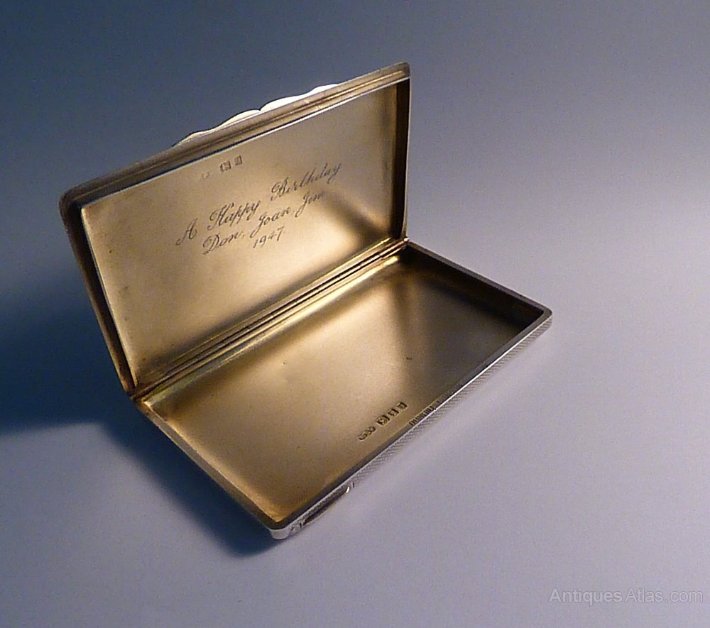 Antiques Atlas - Sterling Silver DUNHILL Cigarette / Card Case 1924