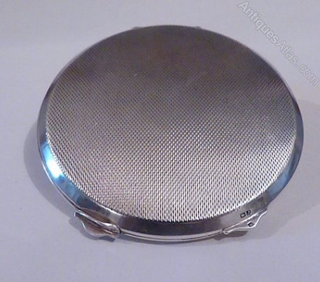 Antiques Atlas Sterling Silver Powder Compact 1950