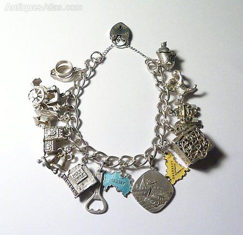 3b1ba4cc8425d6 Antiques Atlas - Sterling Silver Wedding Themed Charm Bracelet