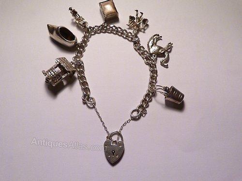 d48d9552175939 Antiques Atlas - Vintage Jewellery Sterling Charm Bracelet 1961