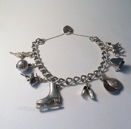 ae8c47c308d275 Antiques Atlas - Vintage Jewellery Sterling Silver Charm Bracelet