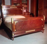 Perfect  Vintage Interiors Mahogany and brass french bed