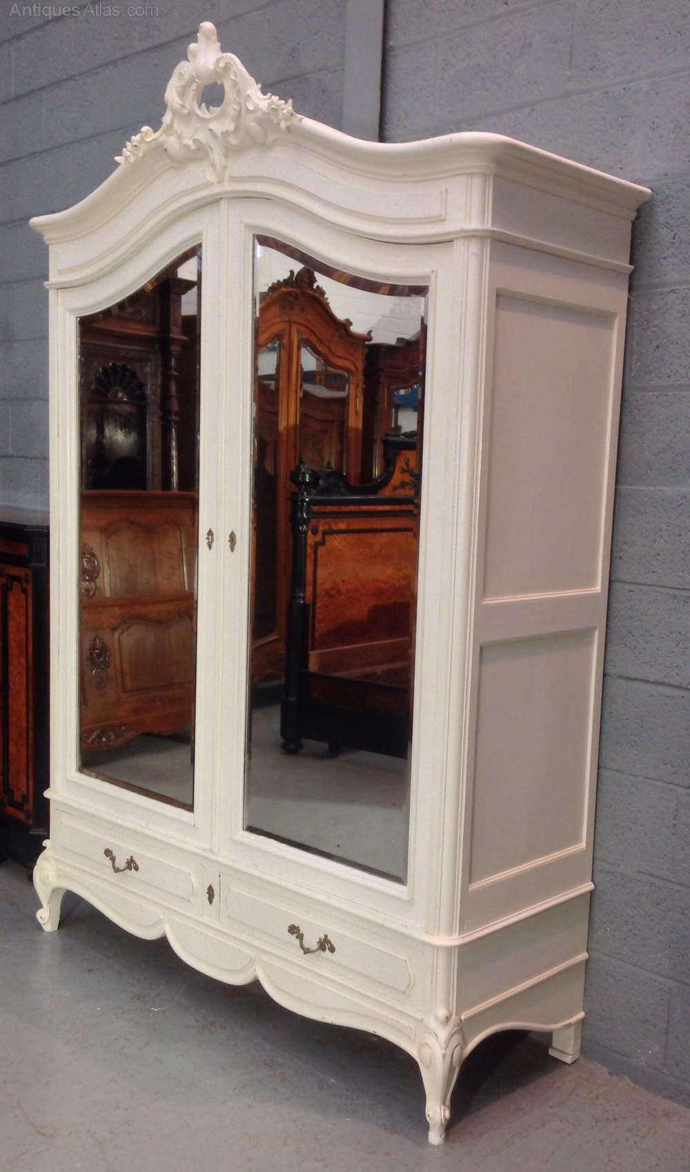 Painted French Armoire - Antiques Atlas