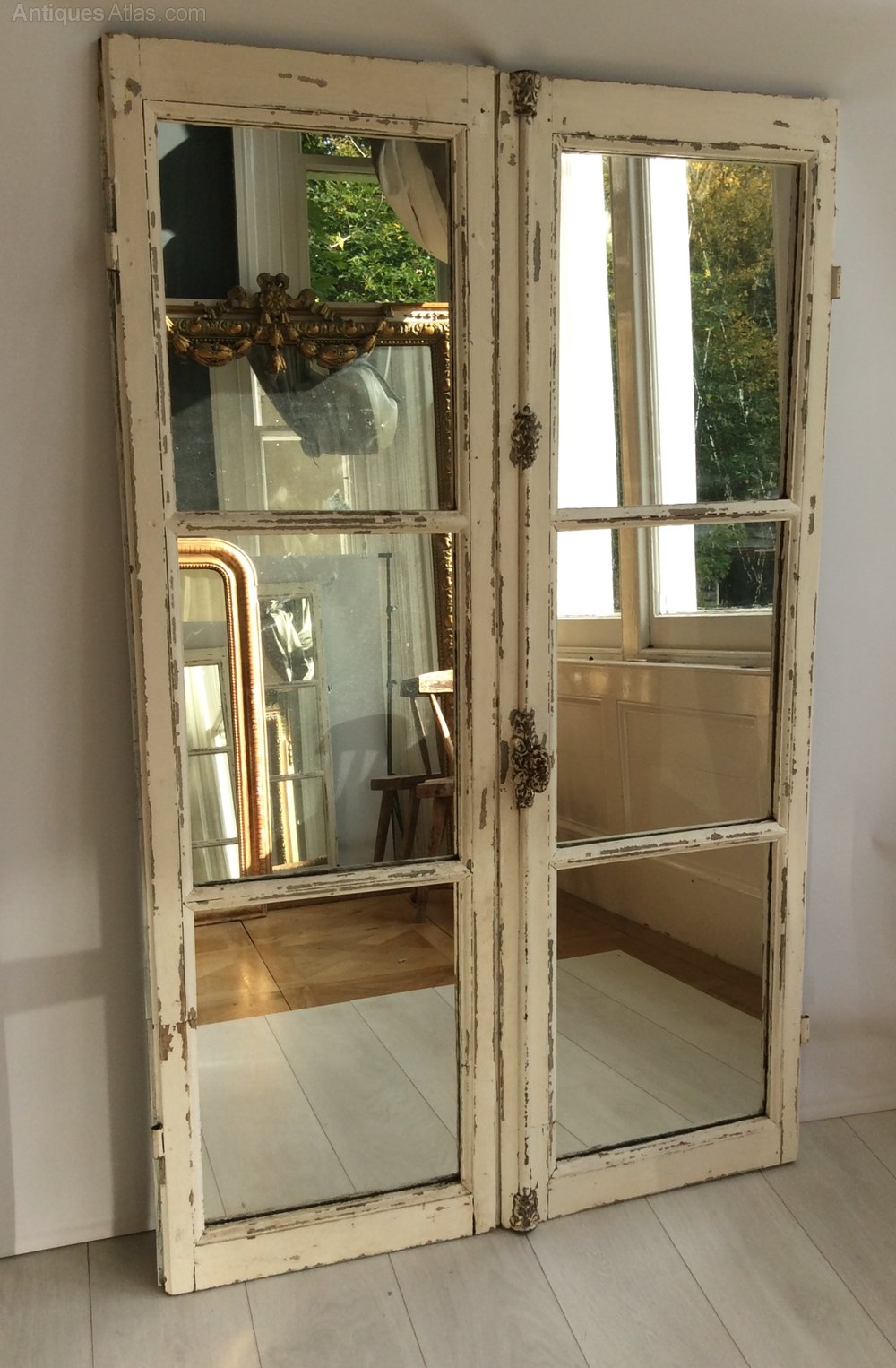 Antique French window mirror Antique Doors and Doorways ... - Antiques Atlas - Antique French Window Mirror