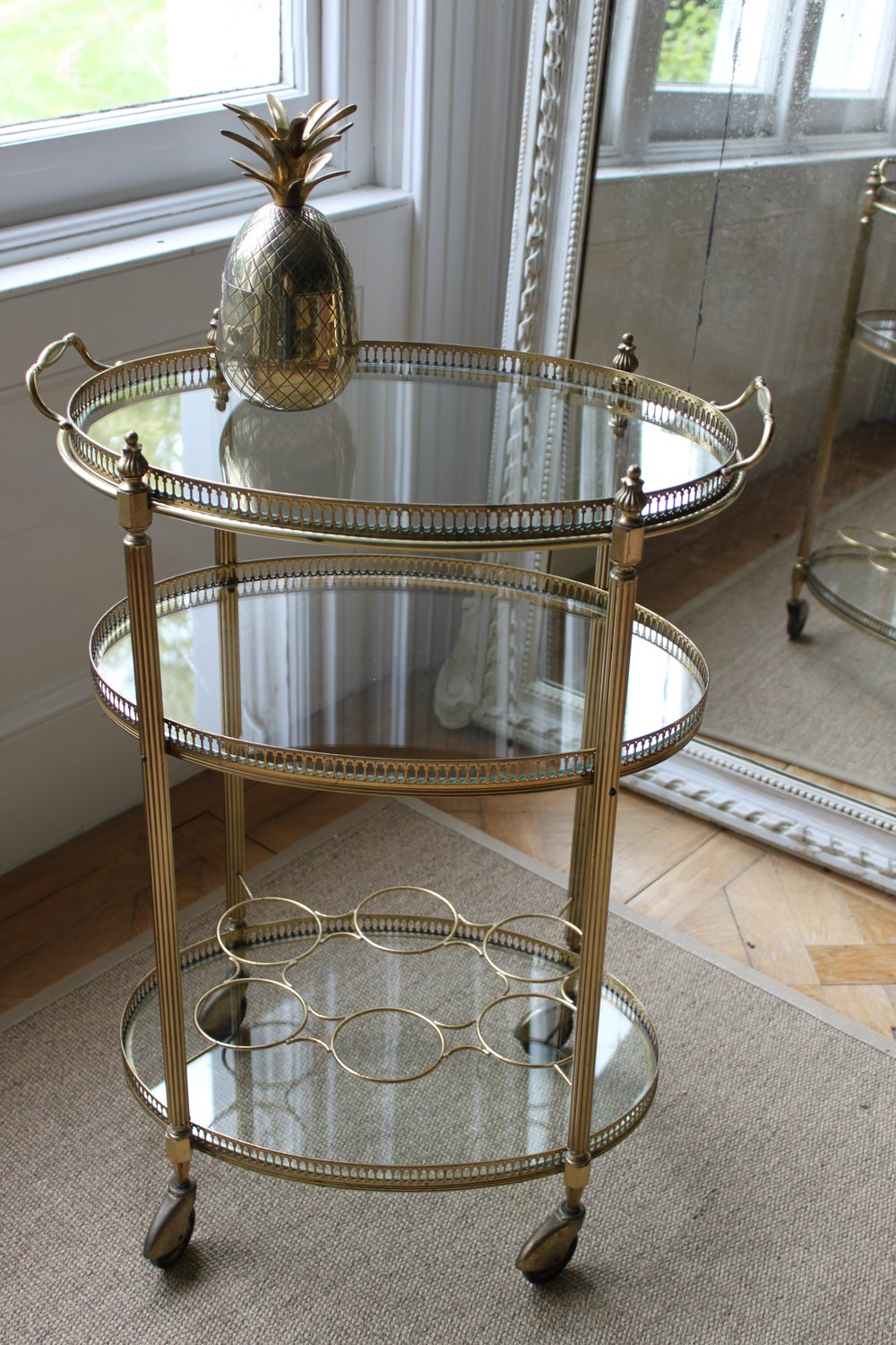 Antiques Atlas French 3 Tier Brass Drinks Trolley Bar Cart