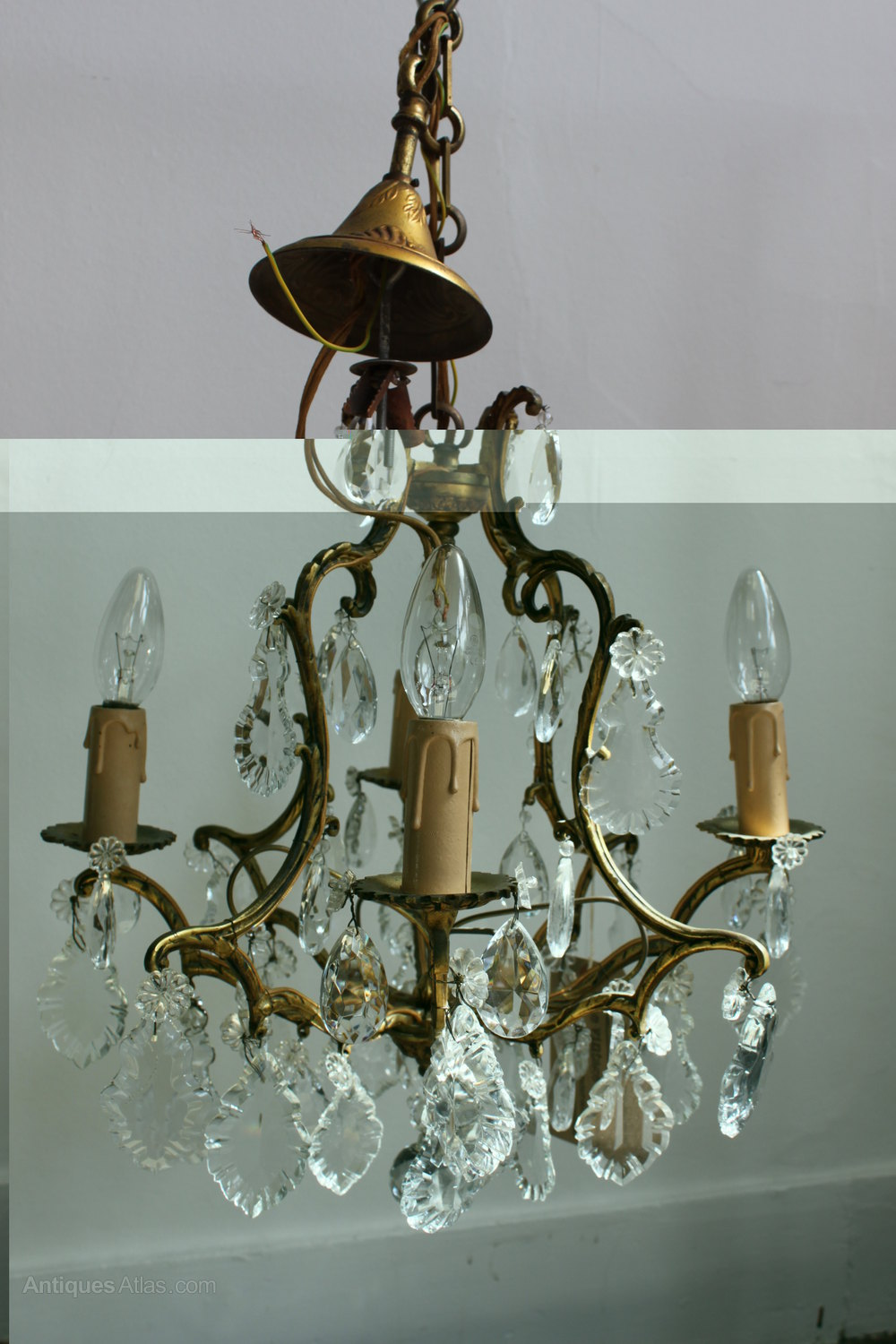 French Brass Chandelier Antique Lighting Chandeliers