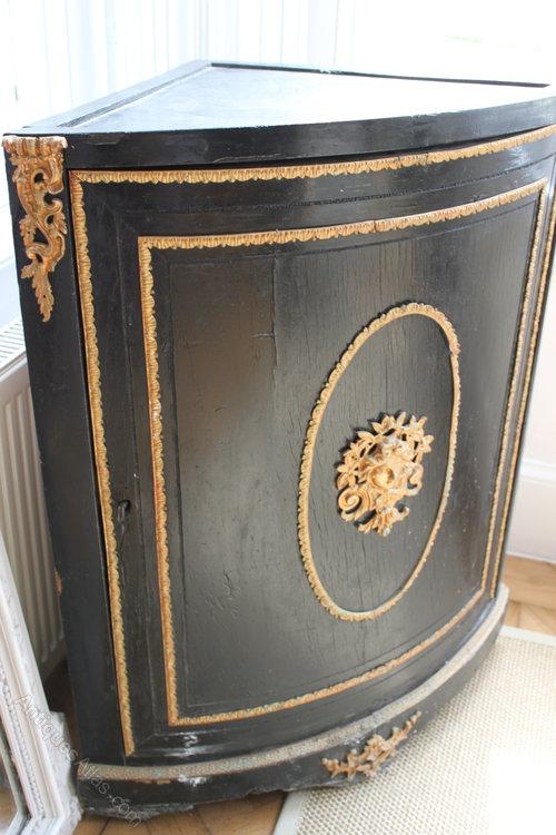 French Corner Cabinet C1880 - Antiques Atlas