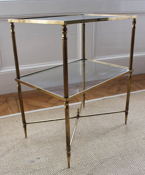 Exceptionnel Gilt Brass And Glass Side Table Vintage And Retro Side Tables ...