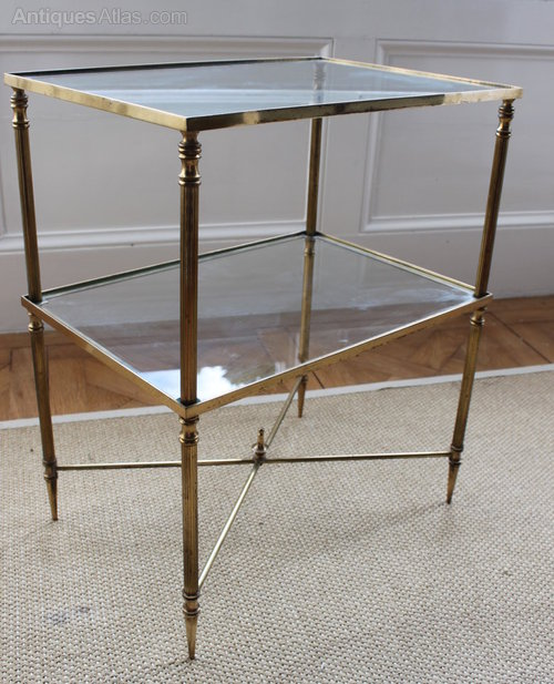 Gilt Brass And Glass Side Table ...