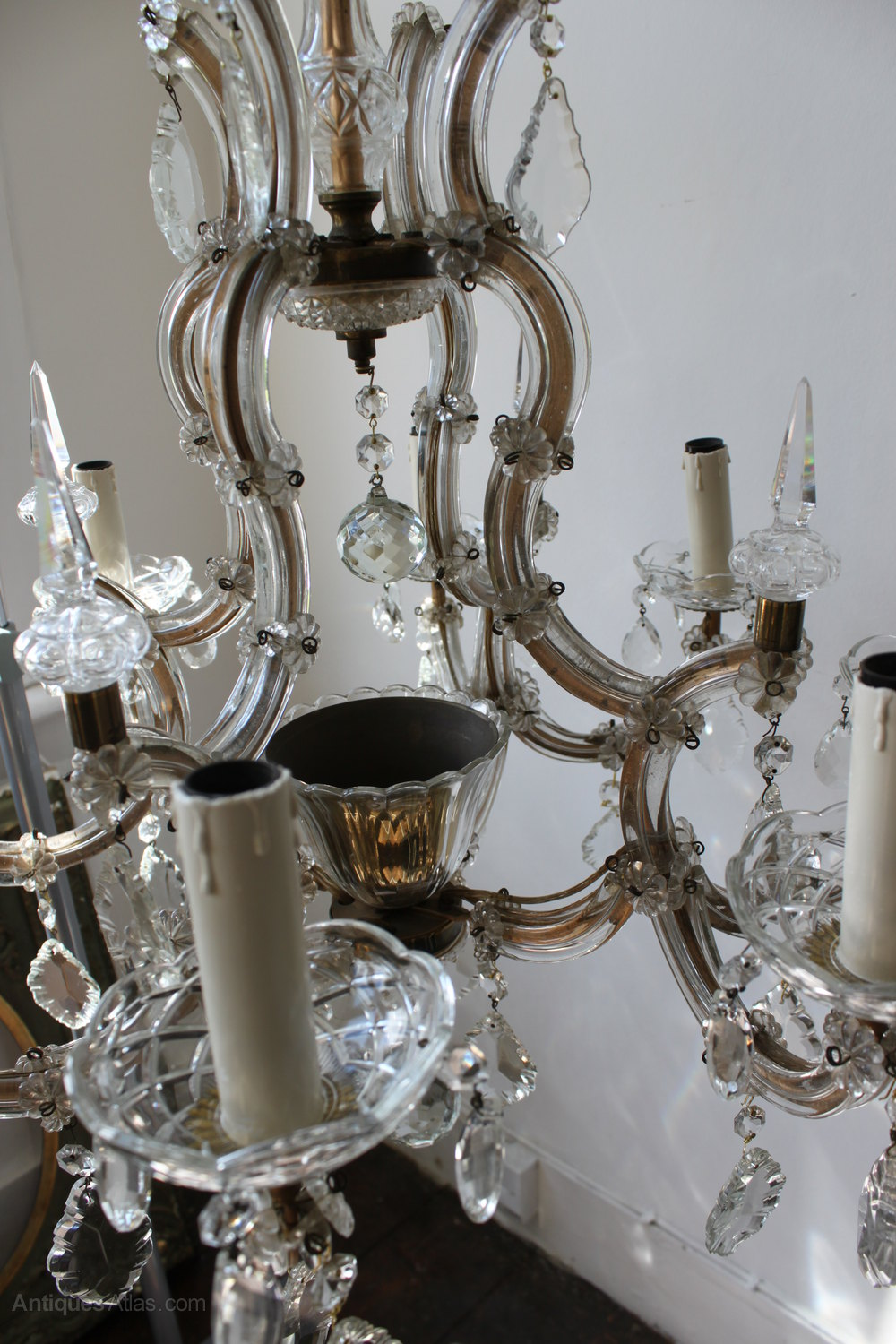 Marie therese chandelier antique musethecollective antiques atlas large marie therese chandelier 8 arm arubaitofo Gallery