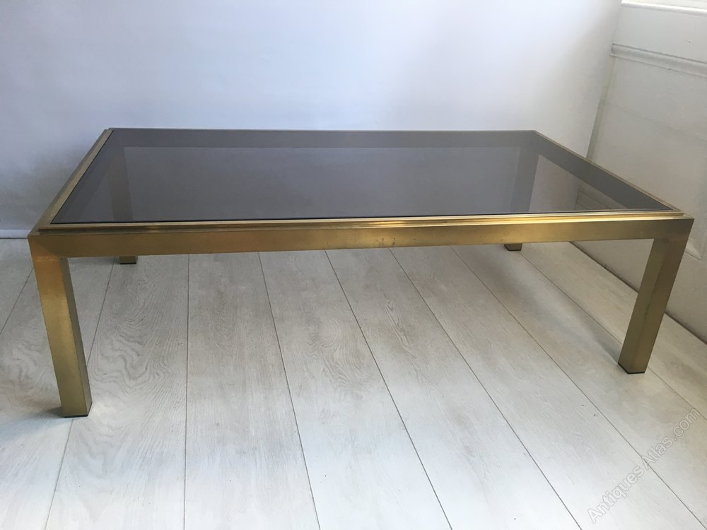 Antiques atlas vintage french brass and glass coffee table for French glass coffee table
